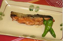 鮭のさっぱりねり梅焼き